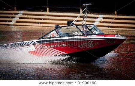 MELBOURNE, AUSTRALIA - MARCH 11: Ski boat at the Moomba Masters on March 11, 2012 in Melbourne, Australia