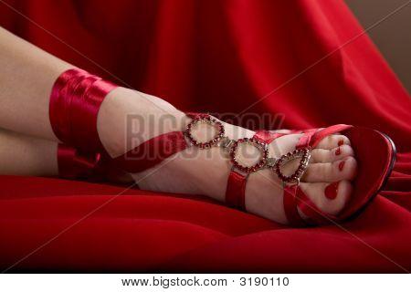 Sexy pés mulheres