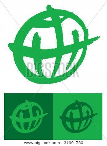 green globe icon