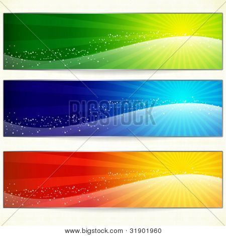 Abstract trendy colorful banners for your design header.