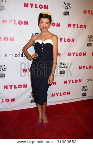 LOS ANGELES - APR 10:  India de Beaufort arrives at the NYLON Magazine 13th Anniversary Celebration at Smashbox on April 10, 2012 in Los Angeles, CA