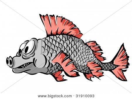 A small fish. Vector illustration.