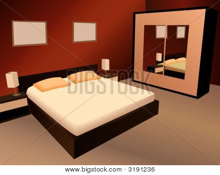 Braun Schlafzimmer Vektor