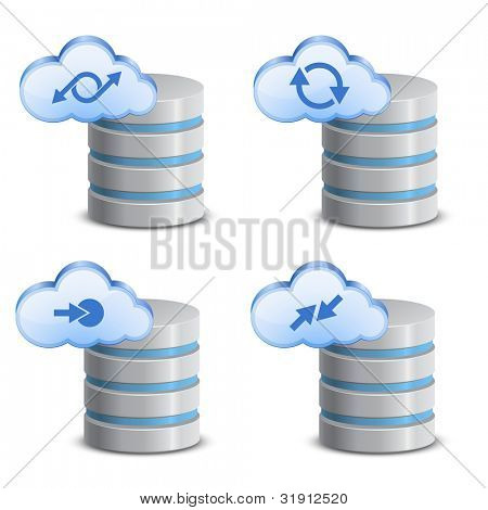 Cloud network backup. On-line backup service