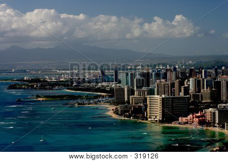 Waikiki Beach And City