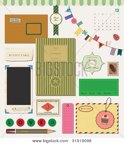Beautiful Scrapbook Element - My Stationery Collection