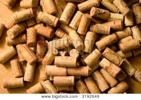 Wine Corks Heap
