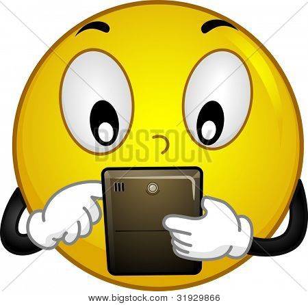 Illustration of a Smiley Using a Tablet PC