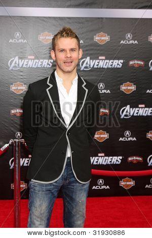 "LOS ANGELES - APR 11:  Dominic Monaghan arrives at ""The Avengers"" Premiere at El Capitan Theater on April 11, 2012 in Los Angeles, CA"