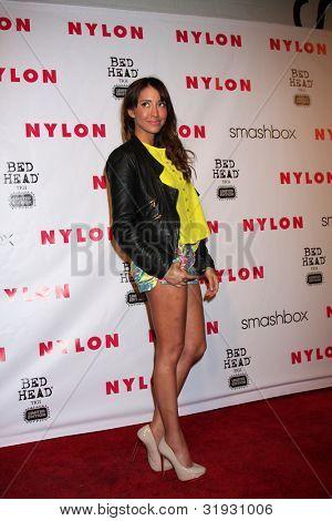 LOS ANGELES - APR 10:  Fernanda Romero arrives at the NYLON Magazine 13th Anniversary Celebration at Smashbox on April 10, 2012 in Los Angeles, CA