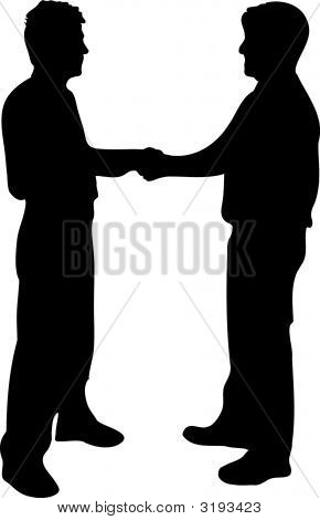 businessmen shaking hands silhouette