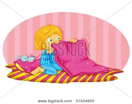 Illustration of a child waking up