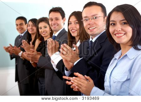 Business Team Clapping