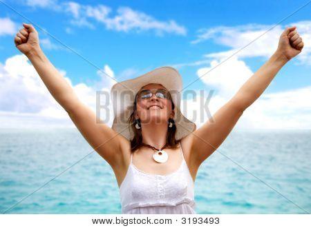 Beach Woman Success