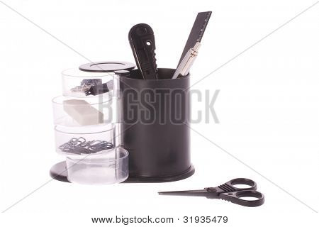 office table organizer under the white background