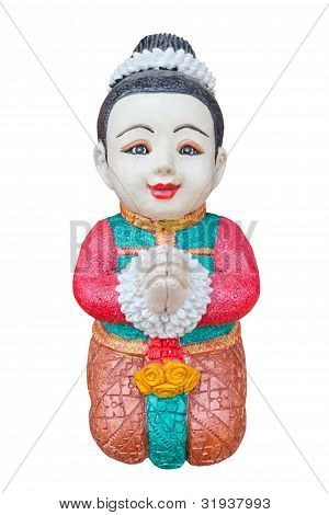Thai Boy Sculpture For Welcome