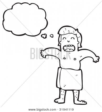 man wearing towel cartoon