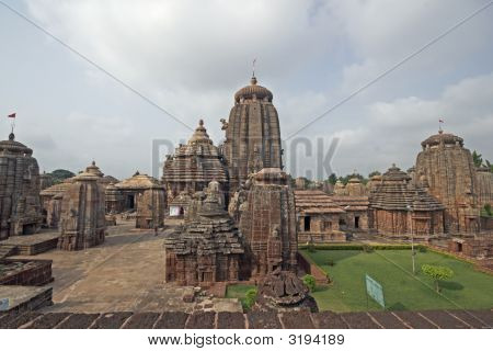 Hindu Temple Complex In Orissa
