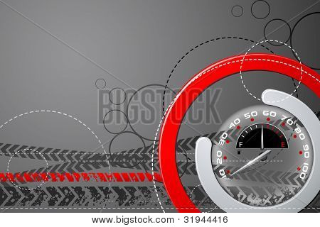 illustration of speedometer on abstract background