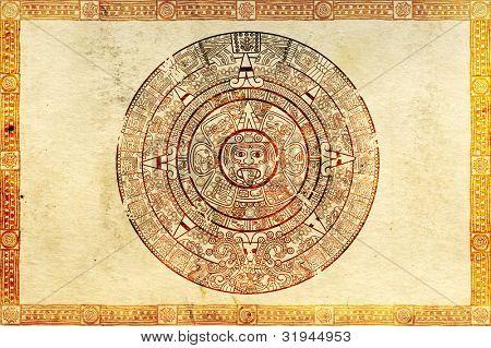 Maya Prophezeiung auf alten Pergament