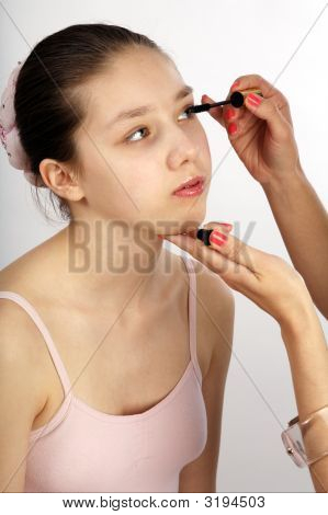 Teen And Mascara