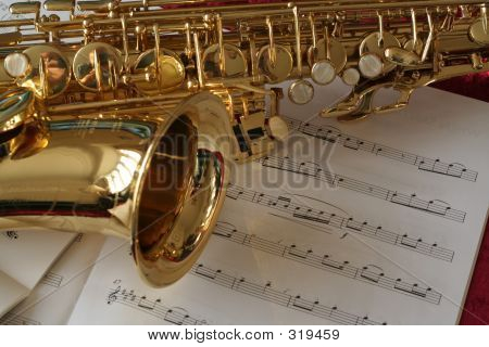 Saxophone And Sheet Music