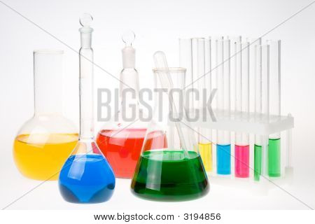 Various Colorful Flasks
