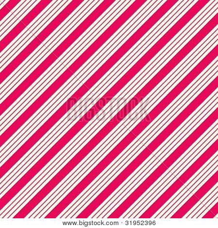 Thick White & Hot Pink Diagonal Stripe Paper