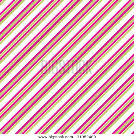 Pink White & Lime Diagonal Stripe Paper
