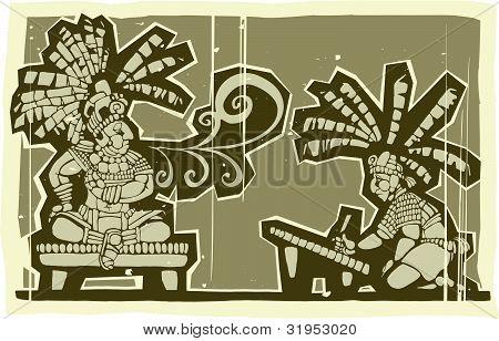 Maya de madera B