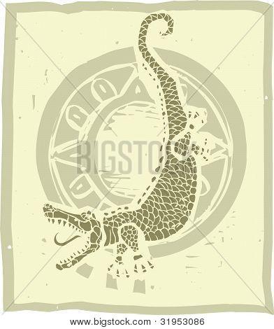 Woodblock Alligator