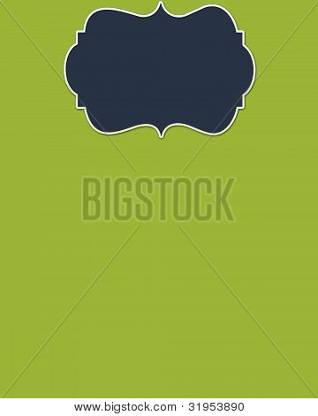 Lime Background & Navy Header