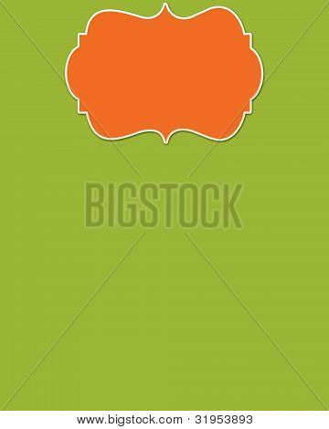 Lime Background & Orange Header