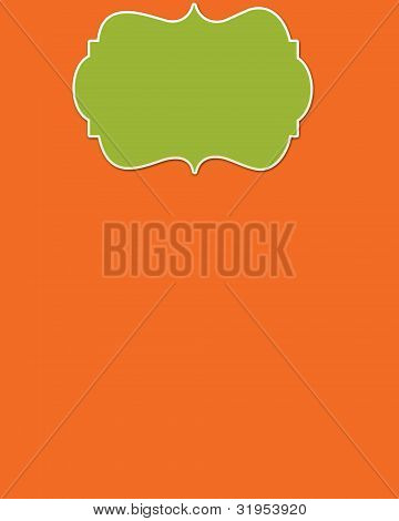 Orange Background & Lime Header