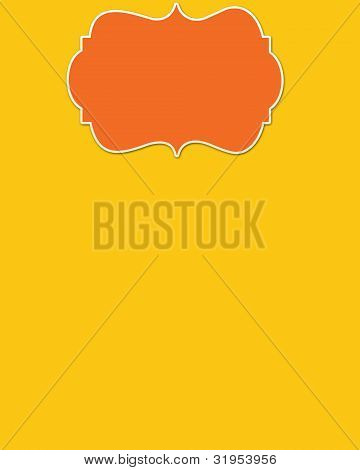 Yellow Background & Orange Header