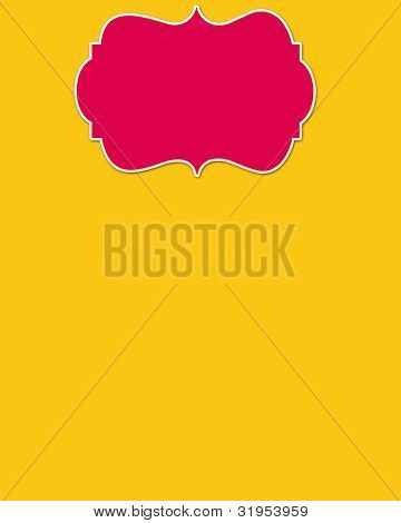 Yellow Background & Pink Header