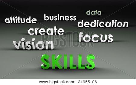 Vaardigheden in de voorhoede in 3d presentatie