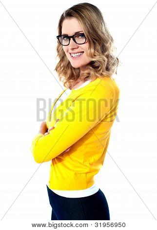 Young Attractive Girl In Casual Style