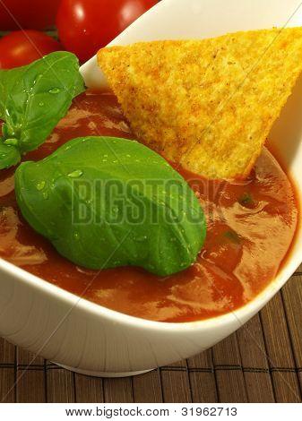 Closeup Of Salsa Sauce