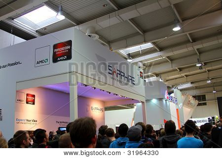 Hannover - March 10: Stand Of Sapphire On March 10, 2012 At Cebit Computer Expo, Hannover, Germany.