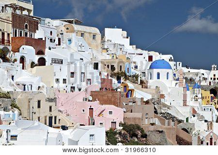 Oia village at Santorini, Greece
