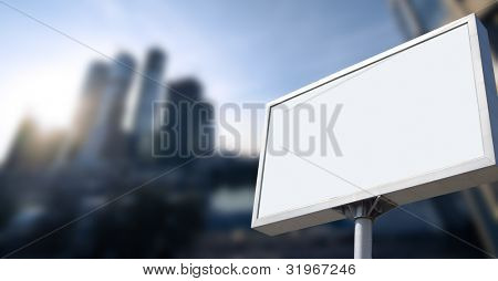 advertising on business building under blue sky