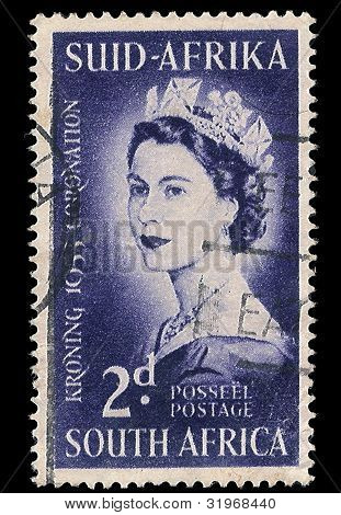 Südafrika Briefmarke Krönung 1953
