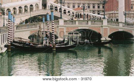 Gondolas At Venitian
