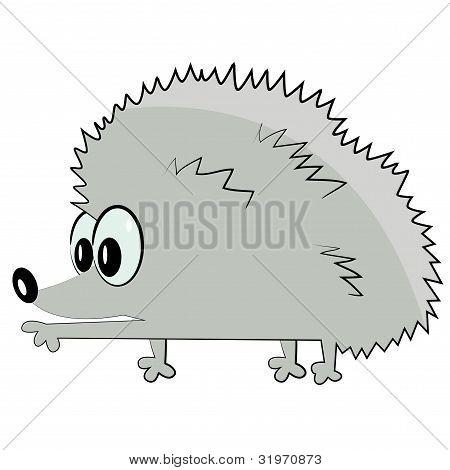hedgehog pointing. cartoon animal icon