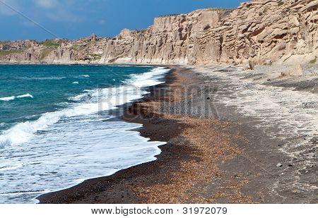 Vlychada beach at Santorini, Greece