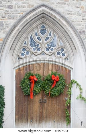 Holiday Church Doors