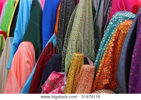 Colorful Luxury And Expensive Clothes