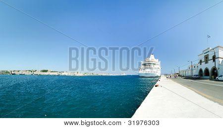 Cruise Ship In Rhodes