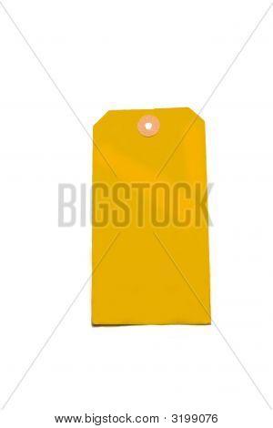 Blank Vintage Yellow Label